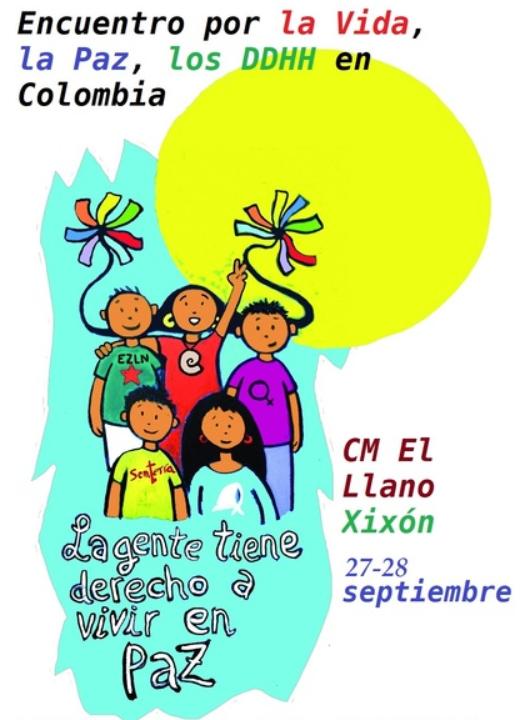 Del 27 al 28 de septiembre se realizará encuentro para impulsar acciones por la paz de Colombia en Asturias