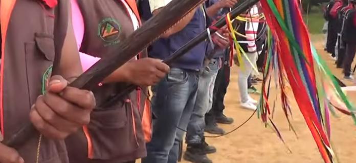 Guardia indígena contra la desarmonía