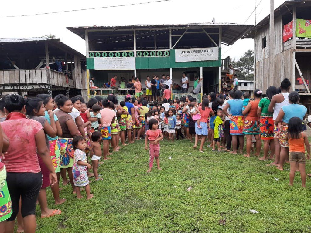 Llegó la navidad a la comunidad Unión Embera Katio