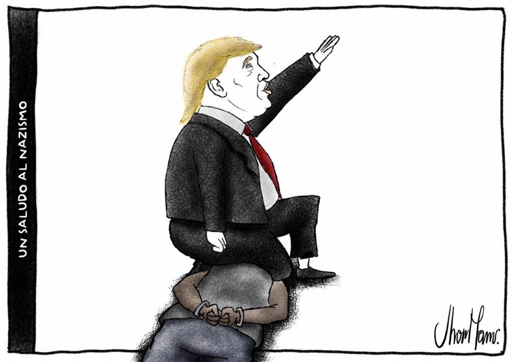 UN SALUDO AL NAZISMO