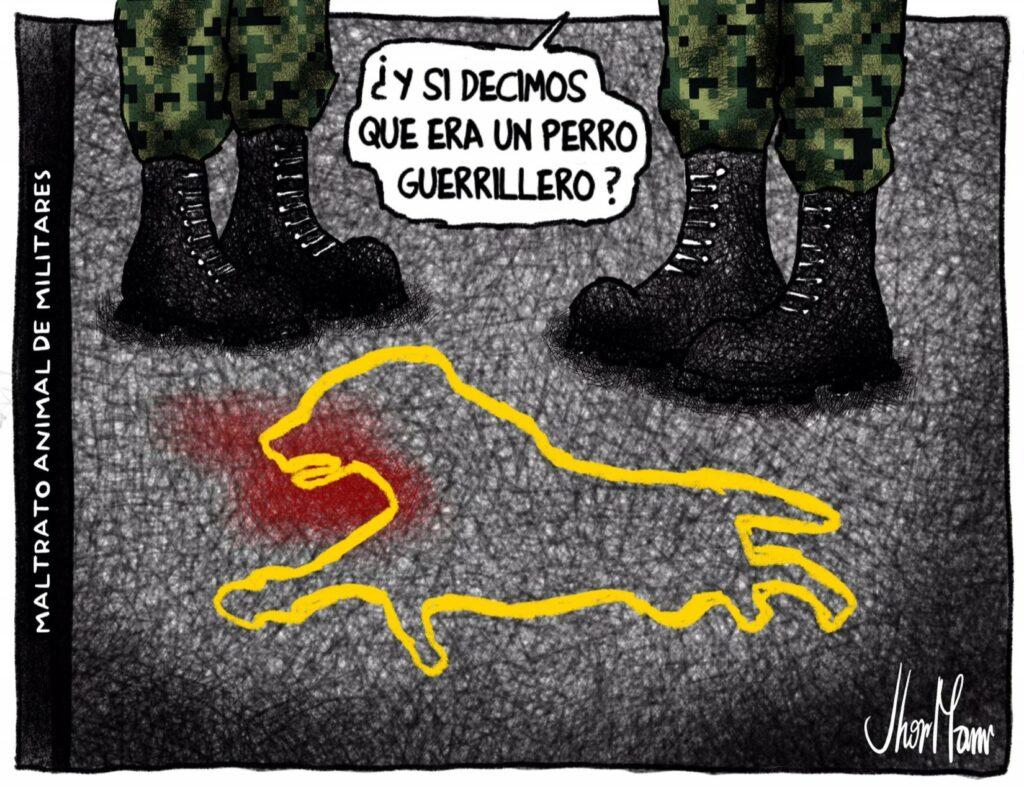 Maltrato animal de militares