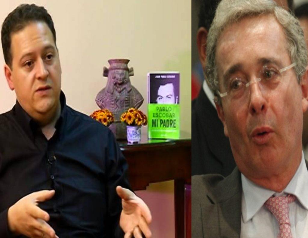 Hijo de Escobar miente sobre Uribe