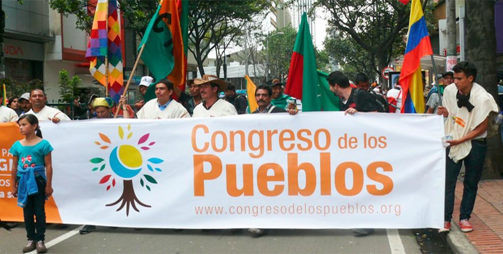 Congresos de los Pueblos rechaza la criminalización del gobierno de Duque a los movimientos sociales.