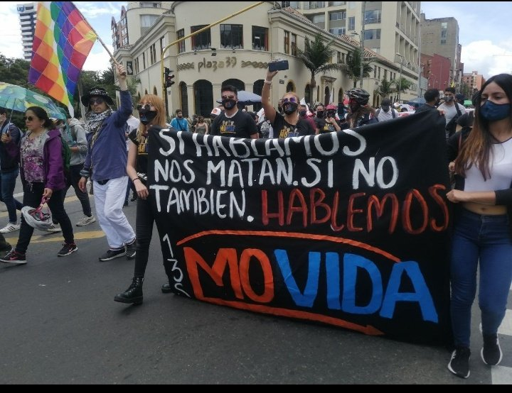 Colombianos rechazan las múltiples masacres y el abuso policial en distintos países