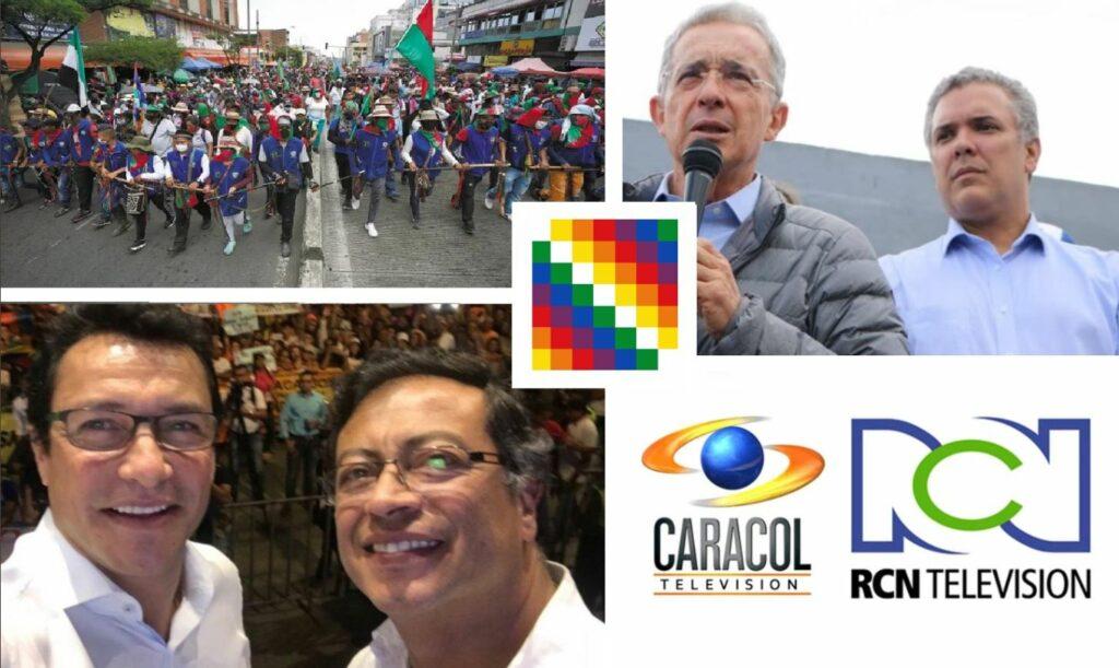 Mientras Duque y Uribe se burlan de los indígenas, Caicedo y Petro los respaldan
